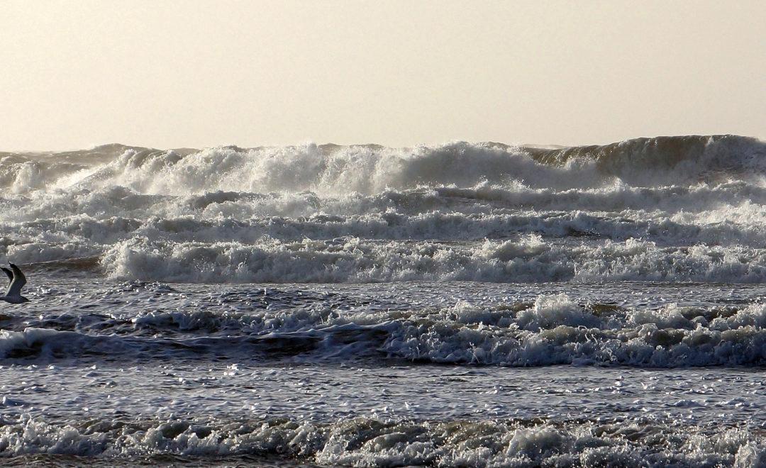 Hohe Wellen an der Nordsee