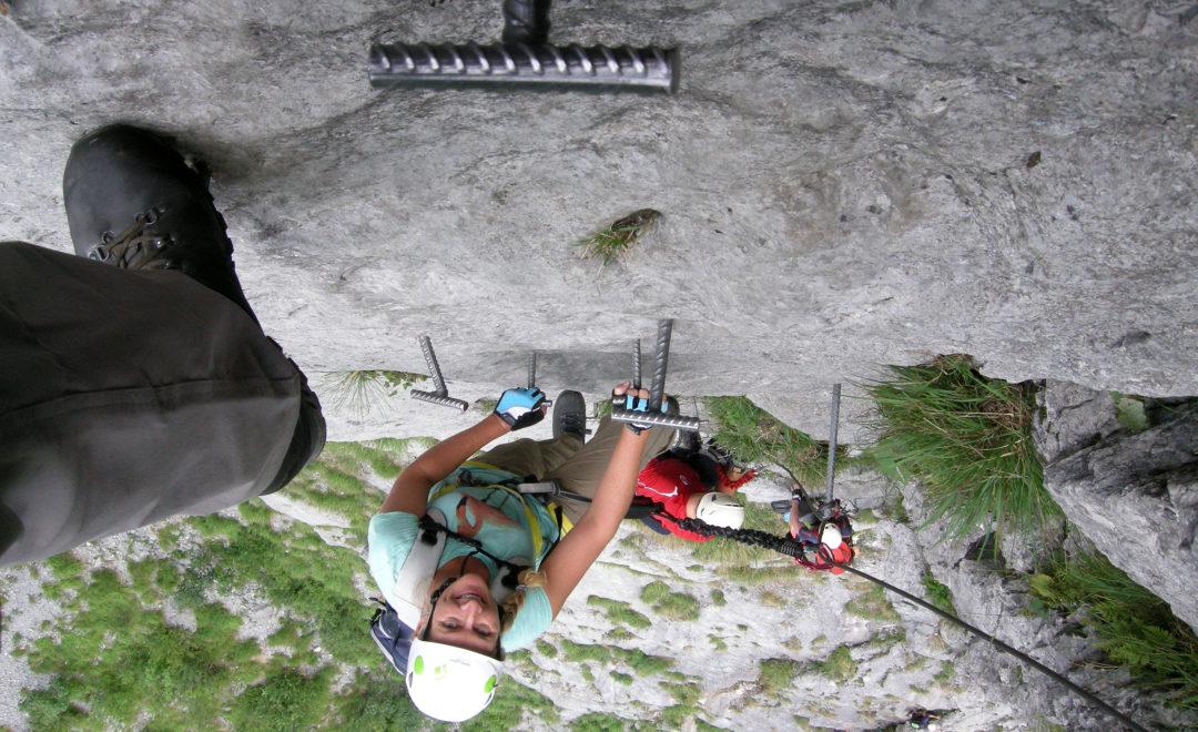 Im Klettersteig Fürenwand Engelberg